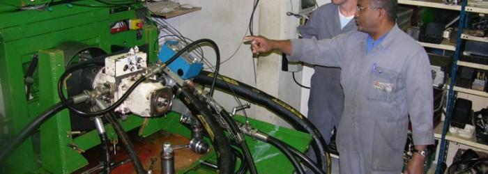 Test de moteur hydraulique au banc