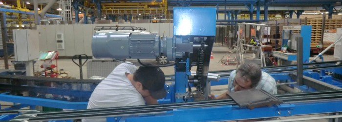 montage automatisme sur une ligne de production