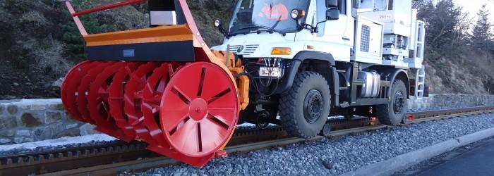 Adaptation chasse neige compatible route et réseau ferré