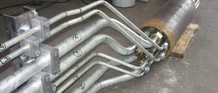 détail fabrication tuyauterie industrielle